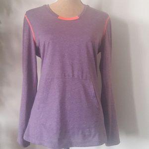 Tops - Activewear hoodie top S Long sleeve purple